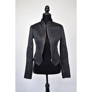 Women's Cropped Fitted Mesh Jacket